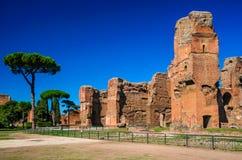 Ванны Caracalla, Рима, Италии Стоковое Изображение RF