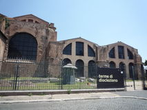 Ванны Diocletian, Рима стоковые фотографии rf