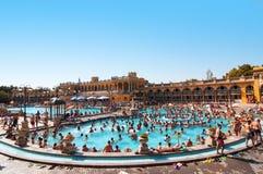Ванны Szechenyi термальные в Будапеште Стоковые Фото
