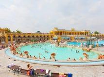 Ванны Szechenyi термальные в Будапеште Стоковые Изображения RF