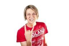 Ванта делая жест рок-н-ролл Стоковые Изображения RF