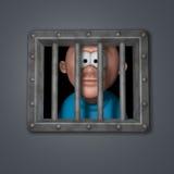 Ванта шаржа в тюрьме иллюстрация штока