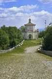 Варезе, Италия - 4-ое июня 2017: Священный держатель Варезе или di Варезе Sacro Monte одно из monti sacri 9 в зонах Lo стоковое фото rf