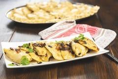 Вареники - традиционное блюдо польской кухни стоковые фото