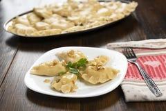 Вареники - традиционное блюдо польской кухни стоковое изображение
