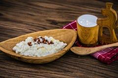 Вареники gnocchi картошки с сыром и беконом овец Стоковые Фото