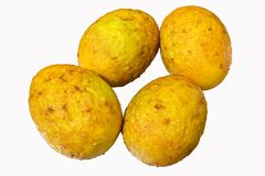 Вареное яйцо картофеля фри стоковые фотографии rf
