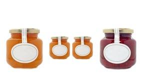 варенье абрикоса jars клубника Стоковые Изображения