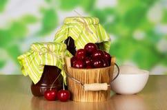 Варенье и вишни Стоковое Фото