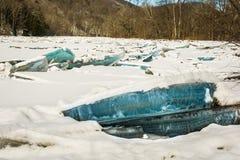 Варенье льда на реке Housatonic Стоковая Фотография RF