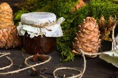 Варенье от конусов сосны Стоковое Фото