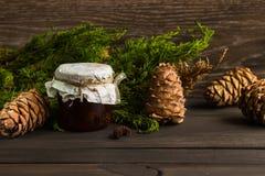 Варенье от конусов сосны Стоковые Фото