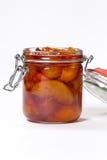 Варенье персика Селективный фокус Стоковая Фотография