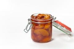 Варенье персика Селективный фокус Стоковое Изображение RF