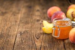 Варенье персика & x28; селективное focus& x29; Стоковое Изображение RF
