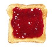 варенье хлеба toasted Стоковая Фотография