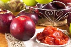 Варенье Яблока, самодельный свежий сбор стоковые изображения rf
