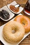 варенье bagels свежее стоковые изображения rf