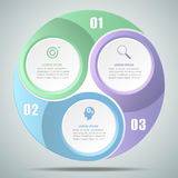 варианта круга 3d infographic 3, концепция дела infographic Стоковые Фотографии RF