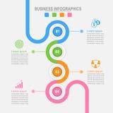 4 варианта infographic, вектор концепции дела соединения Стоковые Изображения