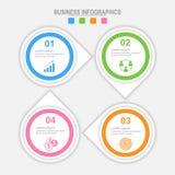 4 варианта infographic, шаблон для вашего дизайна, вектор концепции дела Стоковое Изображение