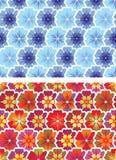 Варианты для безшовной картины цветков Стоковая Фотография