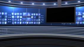Вариант вечерних новостей иллюстрация штока