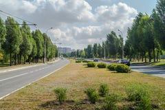 вариант города цифрово произвел золотистую высокую дорогу res изображения Стоковое Изображение RF