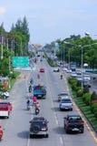 вариант города цифрово произвел золотистую высокую дорогу res изображения Стоковые Фотографии RF