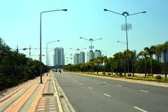 вариант города цифрово произвел золотистую высокую дорогу res изображения Стоковая Фотография