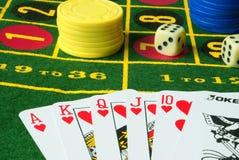 вариант 4 казино стоковое изображение