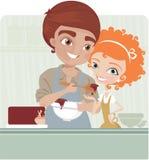 варить детенышей пар иллюстрация штока