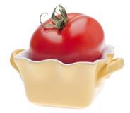 варить желтый цвет томата тарелки Стоковое Фото