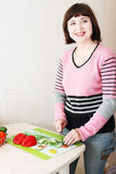 варить женщину Стоковое Фото