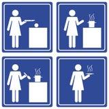варить женщину pictograph Стоковые Фото