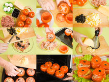варить заполненный томат Стоковые Фото
