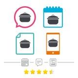 Варить значок знака лотка Символ еды чирея или тушёного мяса бесплатная иллюстрация