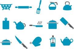 варить инструменты иконы установленные иллюстрация вектора