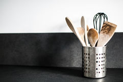 варить инструменты кухни установленные стоковое изображение rf