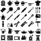 варить инструменты кухни установленные Стоковая Фотография RF