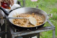 Варить карри свинины Стоковые Изображения