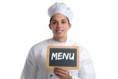 Варить кашевара еды ресторана обедающего обеда еды карточки доски меню Стоковое Изображение