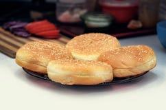 Варить концепцию бургера Стоковая Фотография RF