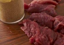 Варить мясное блюдо Стоковые Изображения RF
