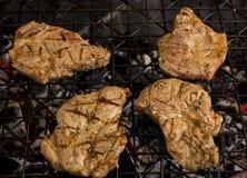 Варить мясо на решетке Стоковое Изображение RF