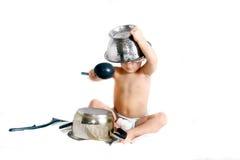 варить над белизной малыша Стоковые Фото