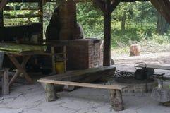 Варить на внешней кухне Стоковая Фотография