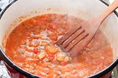 Варить овощи для stew Стоковое Изображение