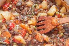 Варить овощи для stew Стоковые Изображения