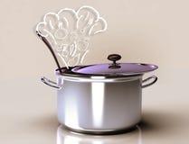 Варить овощной суп Стоковые Изображения RF